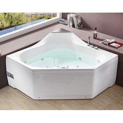 Acrylic Corner Whirlpool Bathtub