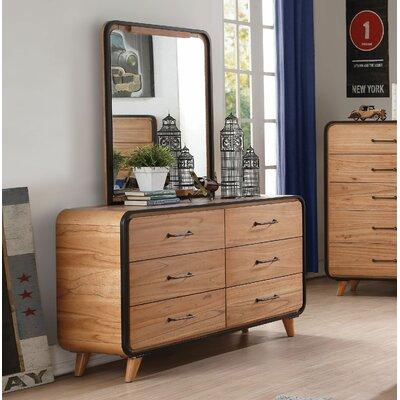 Union Rustic Drawer Double Dresser Mirror