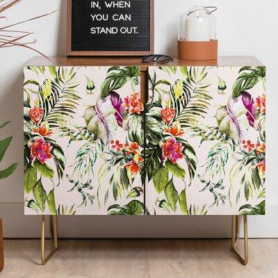 East Urban Home Barragan Camarasa Exotic Jungle Bouquet Sideboard