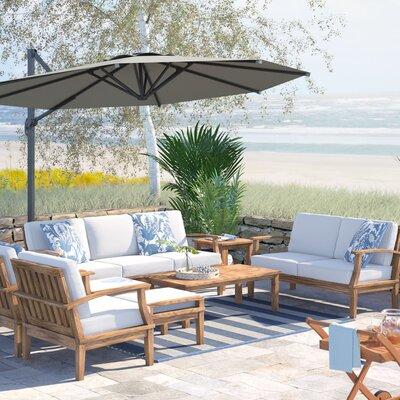 Beachcrest Home Teak Sofa Seating Group Cushions