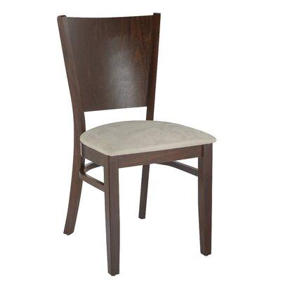 Benkel Seating Side Chair Microfiber Cream Walnut