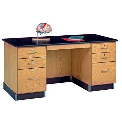 Diversified Woodcrafts Wood Teacher Desk