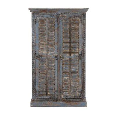 Cole Grey Door Wood Armoire Accent Cabinet