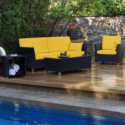 All Things Cedar Sofa Set Cushions Yellow