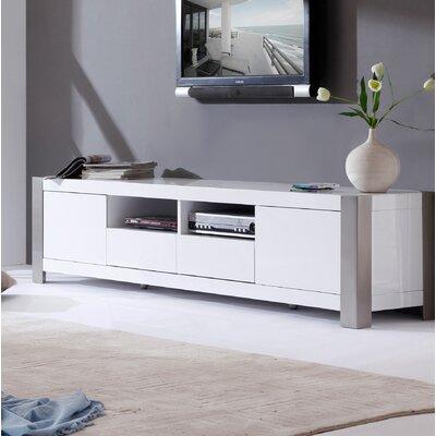 B Modern Tv Stand Tvs B Modern White High Gloss Brushed Stainless Steel