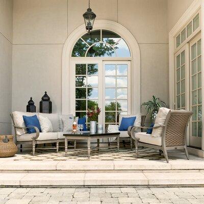 Blue Sofa Seating Group Cushions Photo