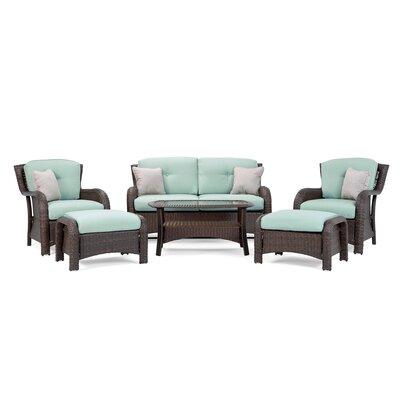 La Z Boy Outdoor Sofa Seating Group Cushions La Outdoor Spa Blue