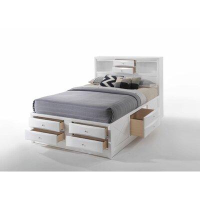 Red Barrel Studio Storage Platform Bed White Full