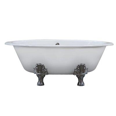 Cambridge Plumbing Wide Clawfoot Soaking Bathtub Feet Polished Chrome