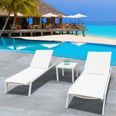 Orren Ellis Lounge Set Table Chaise Loungers
