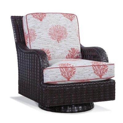 Braxton Culler Patio Swivel Rocking Chair Cushions Java Fabric