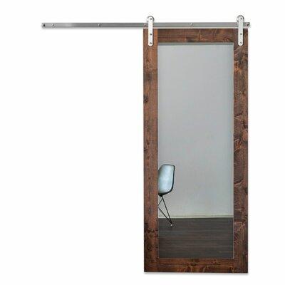 Artisan Hardware Mirrored Wood Glass Modern Sliding Barn Door Hardware Kit