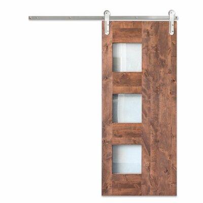 Artisan Hardware Paneled Wood Glass Midcentury Sliding Barn Door Hardware Kit