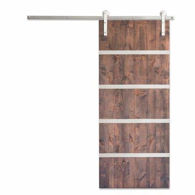 Artisan Hardware Paneled Wood Metal Modern Sliding Barn Door Hardware Kit