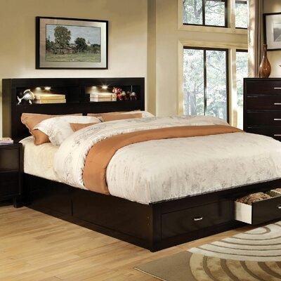 Latitude Run Storage Platform Bed Queen Dark Brown