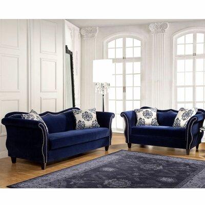 Everly Quinn Living Room Set Royal Blue