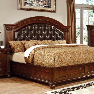 Fleur De Lis Living Leatherette Headboard Upholstered Pannel Bed