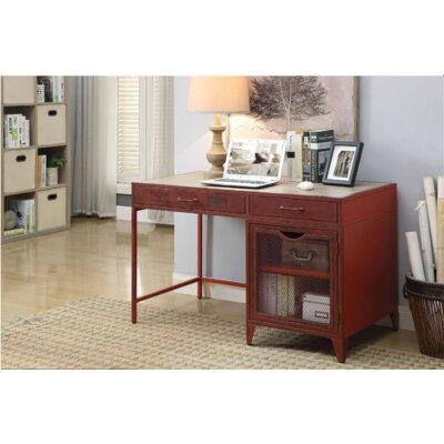 Gracie Oaks Desk Red