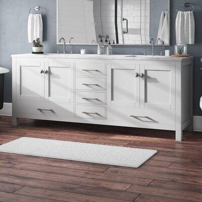 Brayden Studio Transitional Double Bathroom Vanity Set Countertop