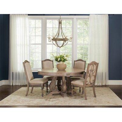 Astoria Grand Solid Wood Dining Set Antique Linen