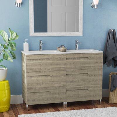 Brayden Studio Double Bathroom Vanity Set Base Maple