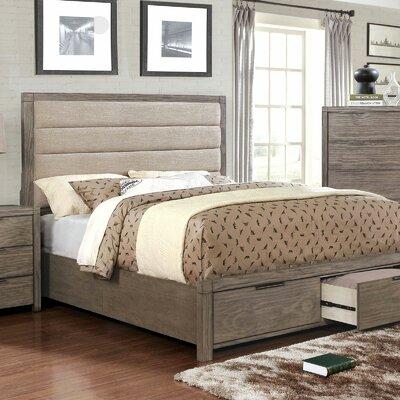 Gracie Oaks Upholstered Storage Platform Bed