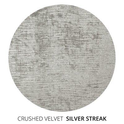 Canora Grey Scroll Upholstered Sleigh Bed Twin Plush Velvet Silver Streak
