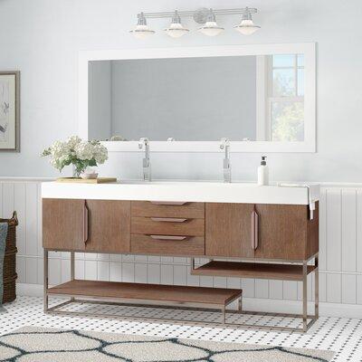 Brayden Studio Double Bathroom Vanity Set Base Latte Oak