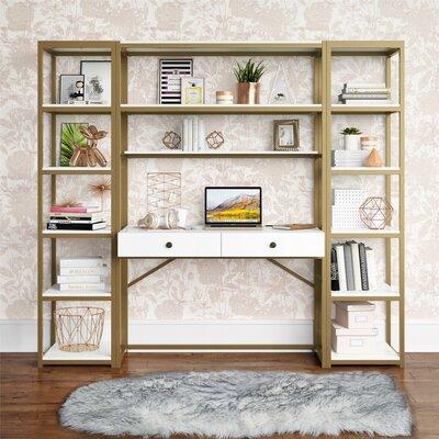 Cosmoliving Billie Desk Hutch Bookcase Set Product Picture