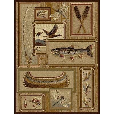 Nature Ivory Fishing Area Rug
