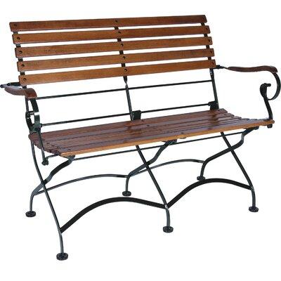 Furniture Designhouse Teak Folding Seat Bench Arms Teak
