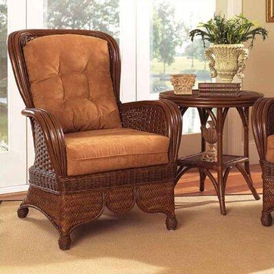 Boca Rattan Wingback Chair