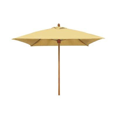 Fiberbuilt Square Umbrella Frame Teak True Brown