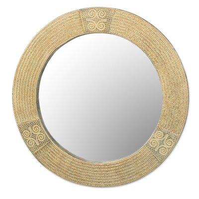 Bloomsbury Market Wood Wall Mirror Round Mirrors