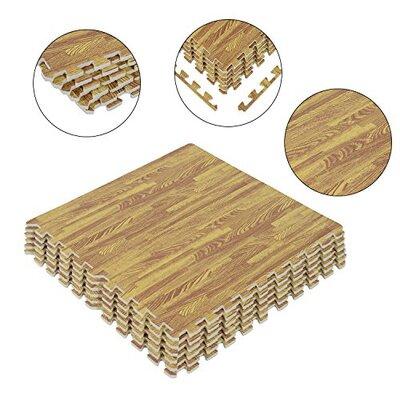 Jetton Interlocking Puzzle Foam Floor Tile Mats Wood Color: Wood A03EFA39F03E4C7FB49B18A55AAC7A1D