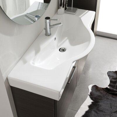 Acquaviva Light Ceramic Bathroom Sink Overflow Image